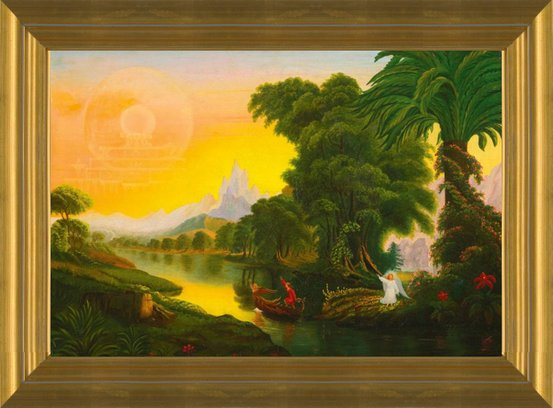 a87a6e6654 Art Prints of After Thomas Cole, The Voyage of Life, Youth, American School