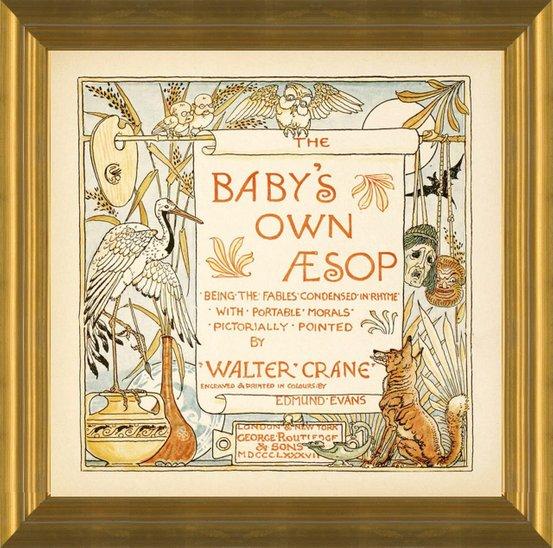 Art Prints Of Title Page Illustration Aesop S Fables