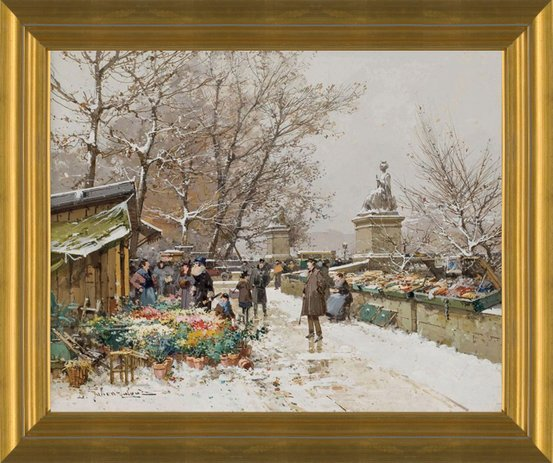 Paris, Un Coin de Quai by Eugene Galien-Laloue | Fine Art Print