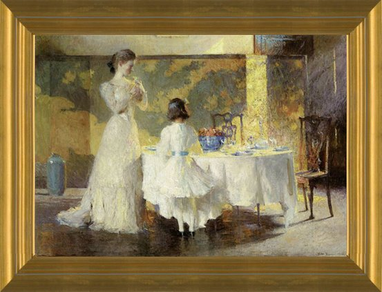 Art Prints Of The Artists Daughters In Dining Room By Frank Weston Benson