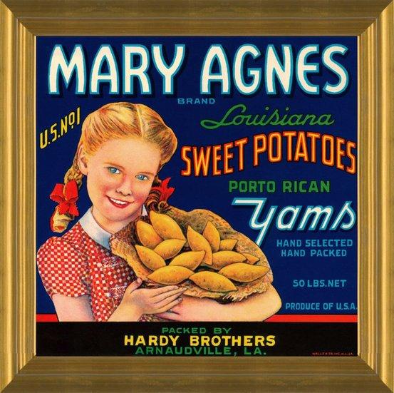 Gene O Yams Opelousas Sweet Potato Co Sunset Louisiana Crate Label