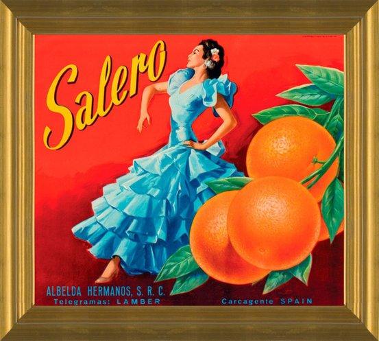 Escondido San Diego County Wonderland Orange Citrus Fruit Crate Label Print