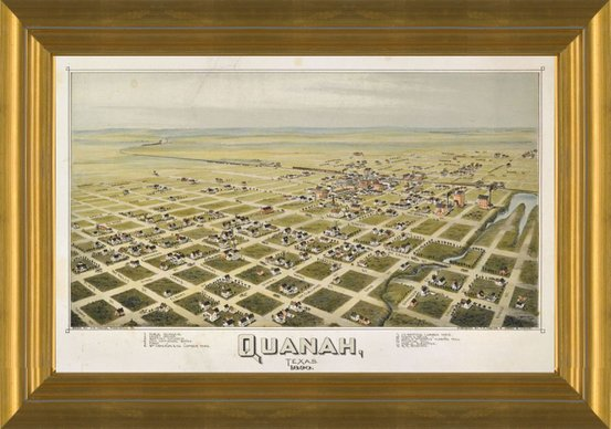Quanah, Texas, 1890 by Thaddeus Mortimer Fowler | Fine Art Print on