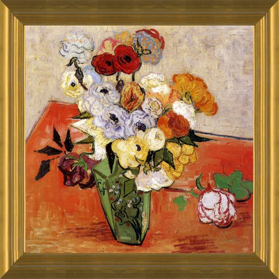 Encore Editions & Japanese Vase with Roses and Anemonies by Vincent Van Gogh | Fine Art Print