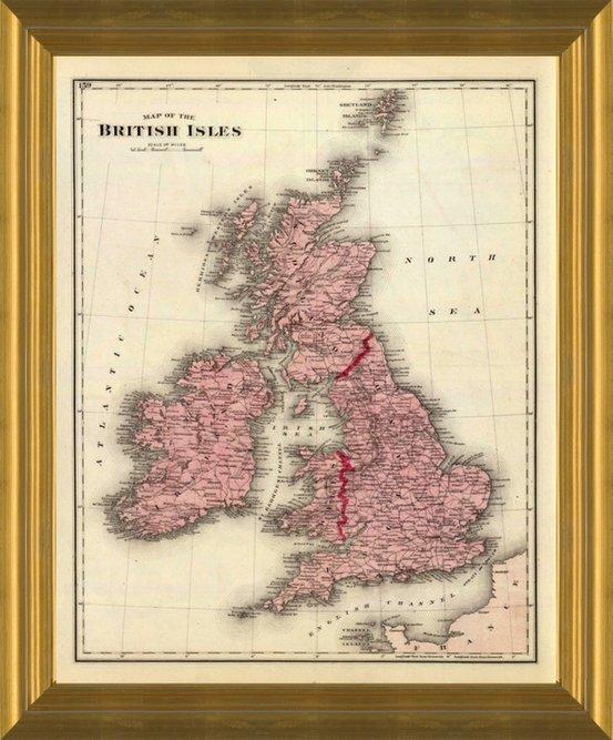Art Prints of British Isles Map by Warner, Beers & Union Atlas Co.