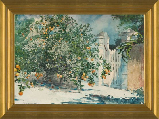 ARTCANVAS Orange Trees and Gate 1885 Canvas Art Print by Winslow Homer