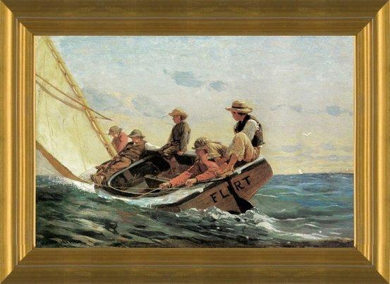 Art Prints Of The Flirt By Winslow Homer