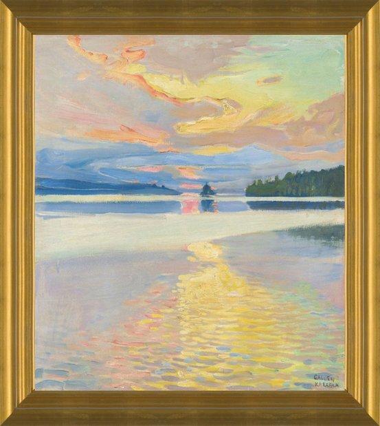 Sunset Over Lake Ruovesi by Akseli Gallen-Kallela   Fine Art Print